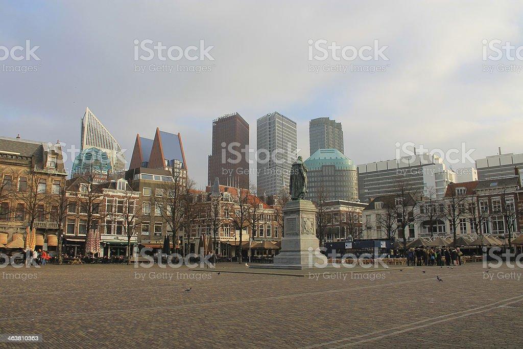 Plein and The Hague skyline stock photo