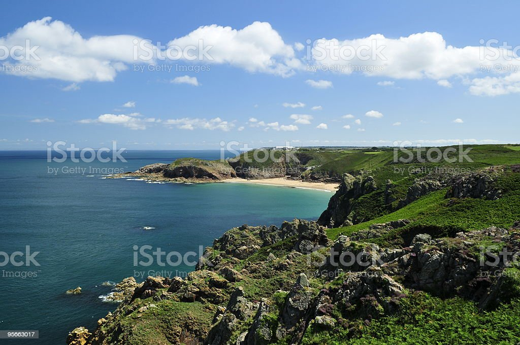 Plemont bay,Jersey. royalty-free stock photo
