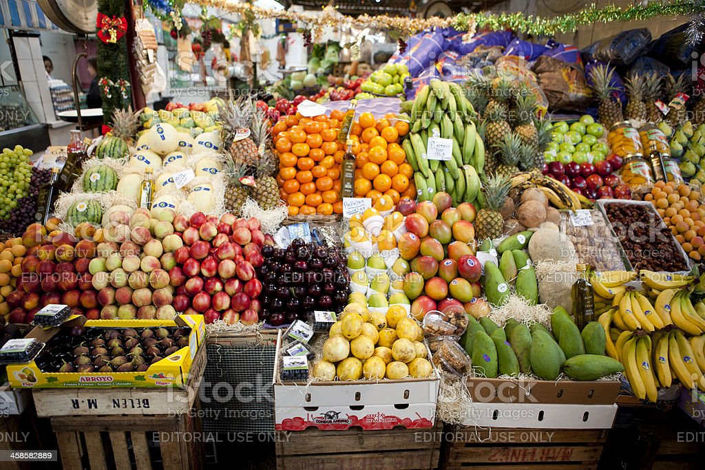 Plentiful fresh fruit, grocery store in Buenos Aires royalty-free stock photo