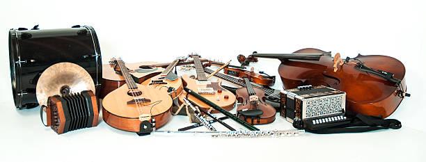 Plethora of instruments stock photo