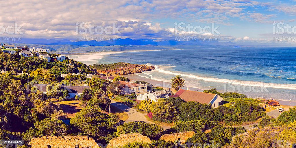 Plettenberg bay in the Western Province of South Africa stock photo