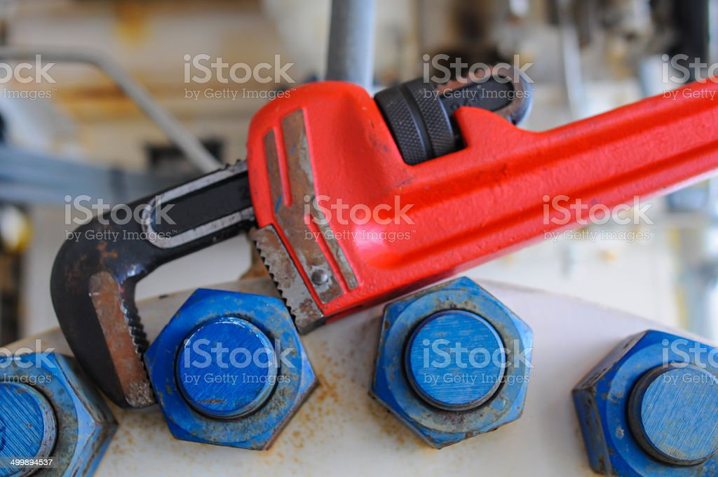 plier wrench, Tools equipment for use in heavy job royalty-free stock photo