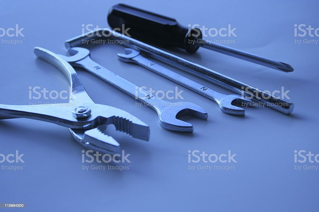 Plier & wrenches royalty-free stock photo