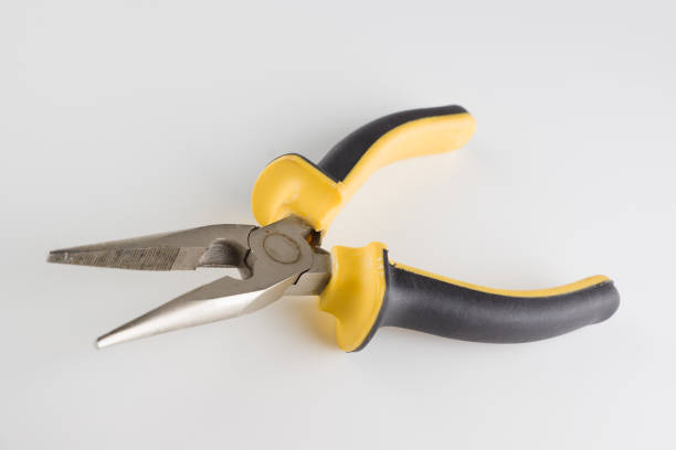 pliers with a long working part and dielectric handles – zdjęcie