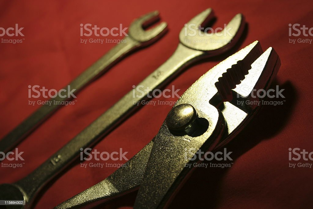 Pliers,  wrenches tools royalty-free stock photo