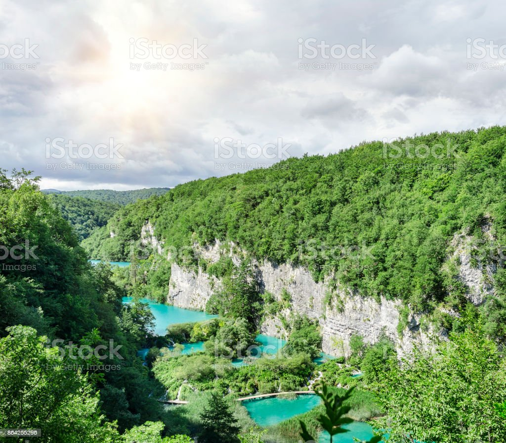 Plitvice lakes and waterfalls. royalty-free stock photo