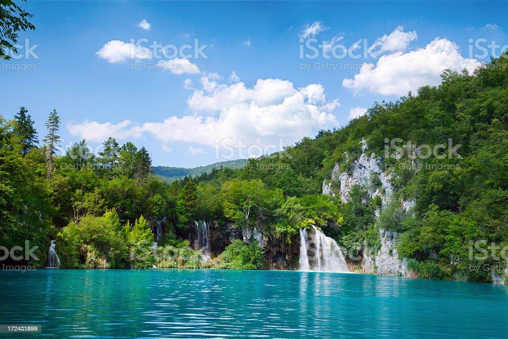 Plitvice lakes, Croatia stock photo
