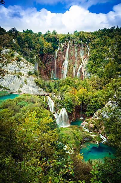 plitvice lakes, croatia. - nationalpark plitvicer seen stock-fotos und bilder
