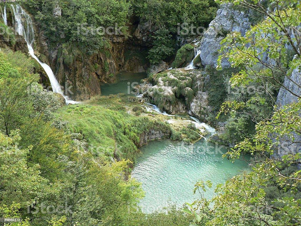 Плитвицкие озера, Хорватия Стоковые фото Стоковая фотография