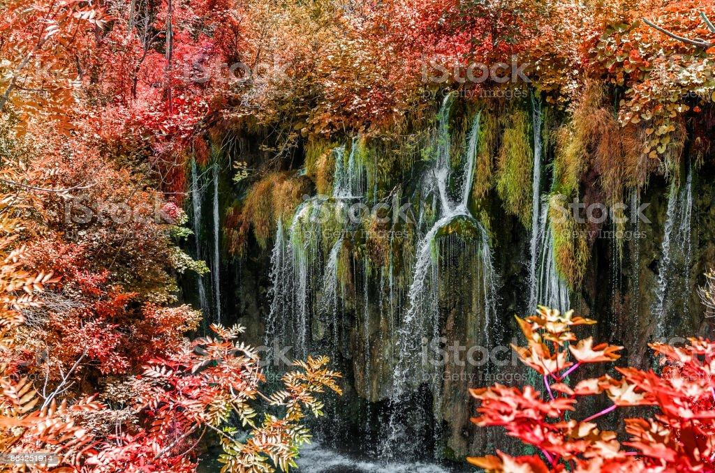 Plitvice Lakes in the autumn. royalty-free stock photo