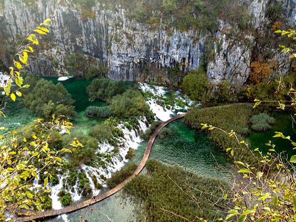 プリトヴィツェ湖群国立公園,クロアチア  ストックフォト