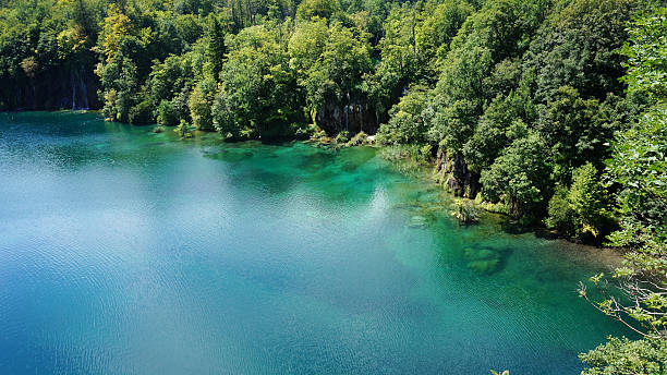 Plitvice Lakes National Park in Croatia. stock photo