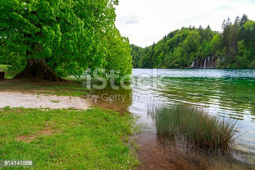 Plitvice Lakes national park in Croatia beautiful Landscape