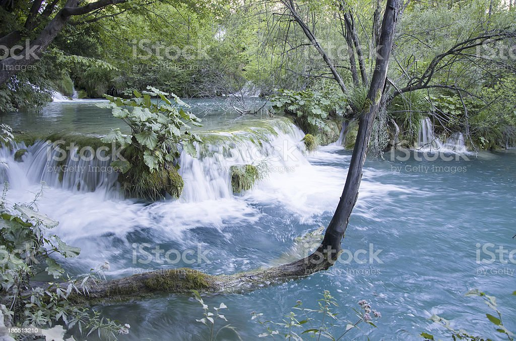 Plitvice lakes national park royalty-free stock photo