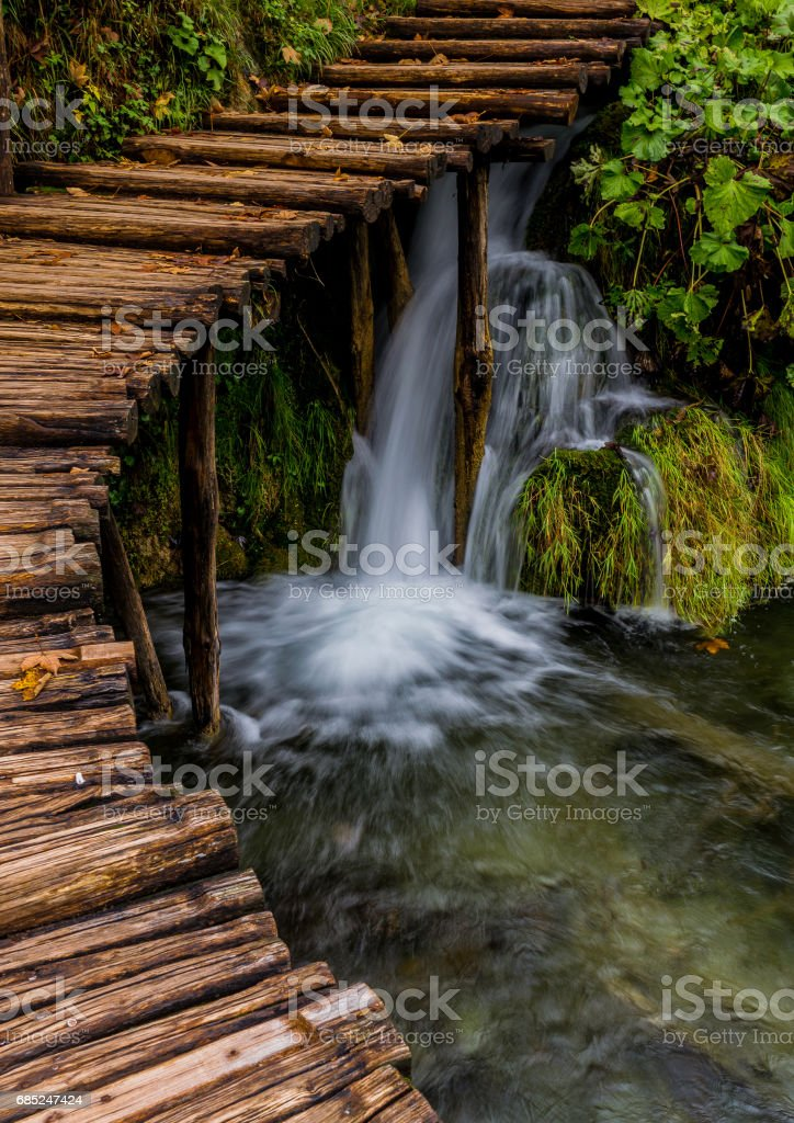 Plitvice Lakes Path royalty-free stock photo