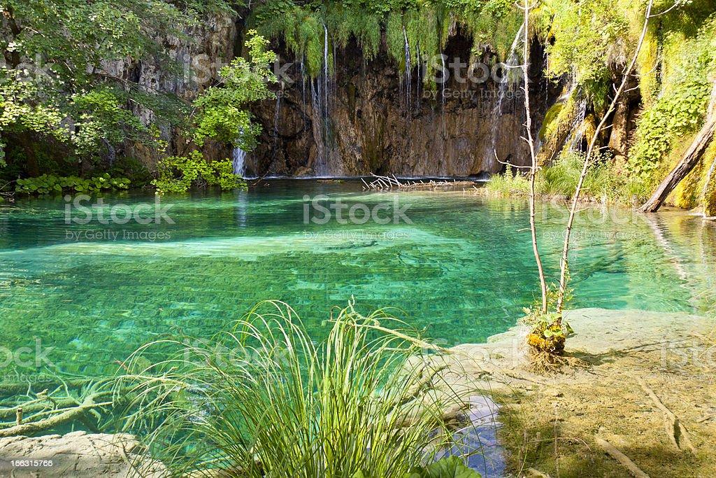 Plitvice lakes, view on clean lake. Croatia. royalty-free stock photo