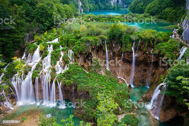Photo of Plitvice Main Waterfalls Spring