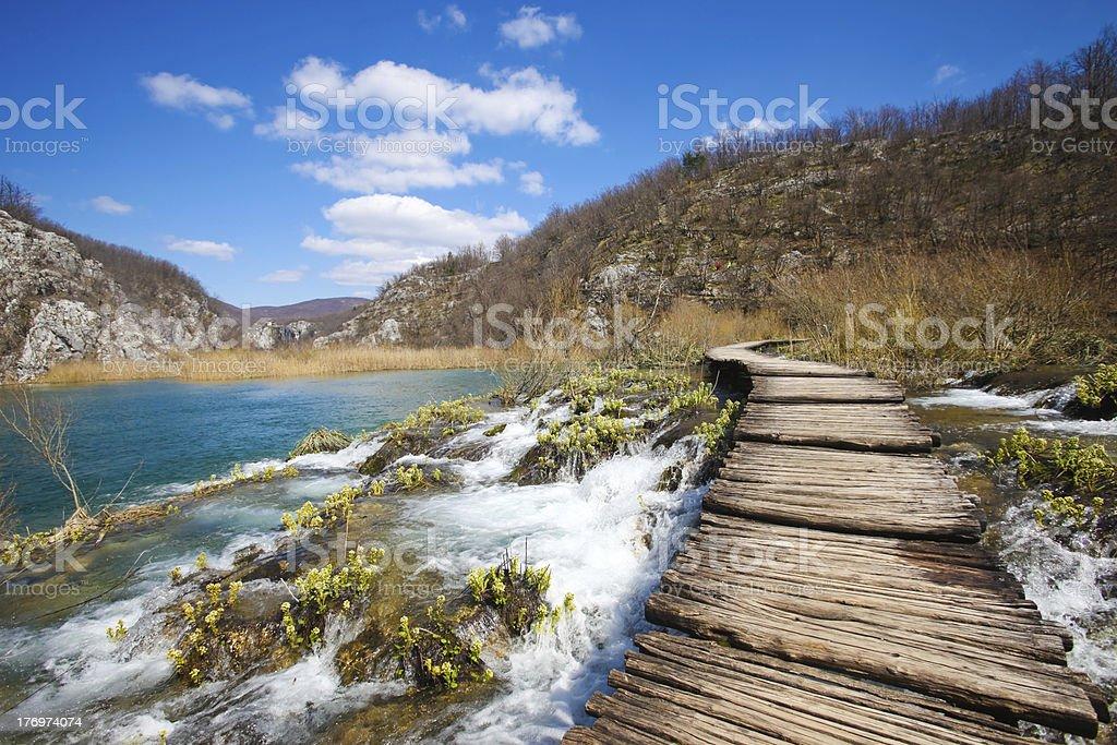 plitvice pathway royalty-free stock photo