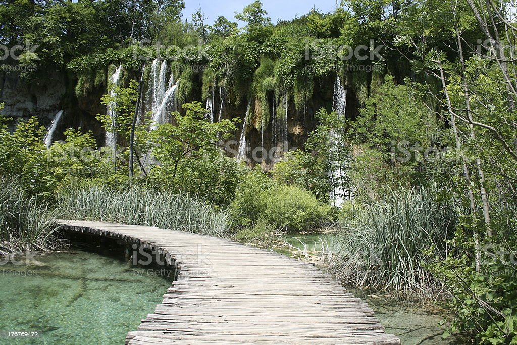 Plitvice walkway royalty-free stock photo