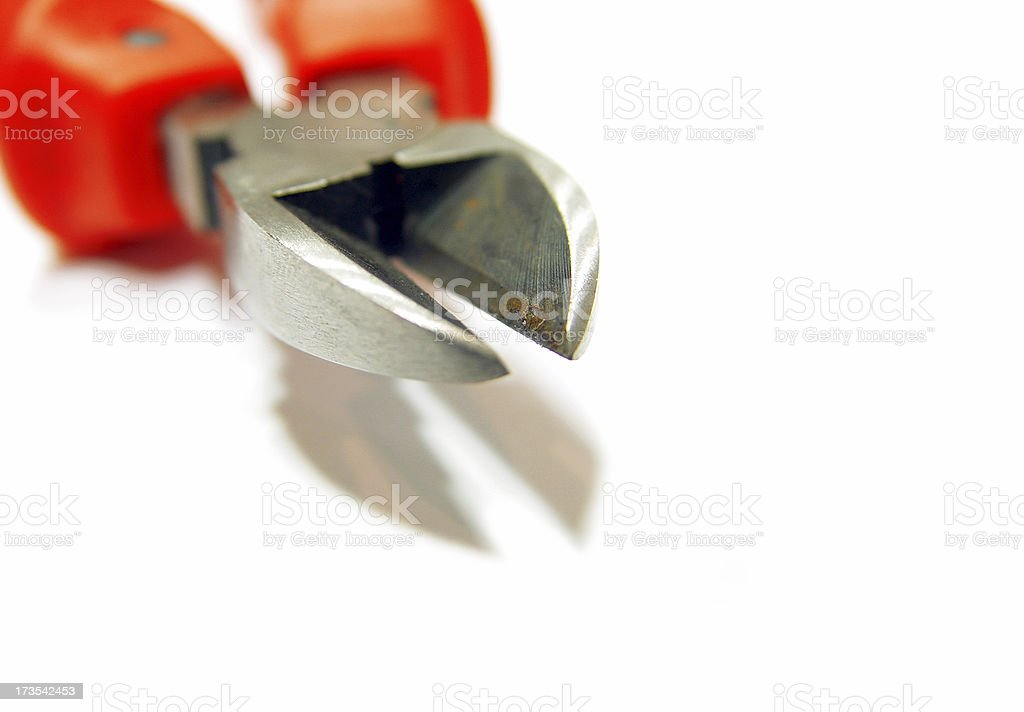 plliers to cut royalty-free stock photo