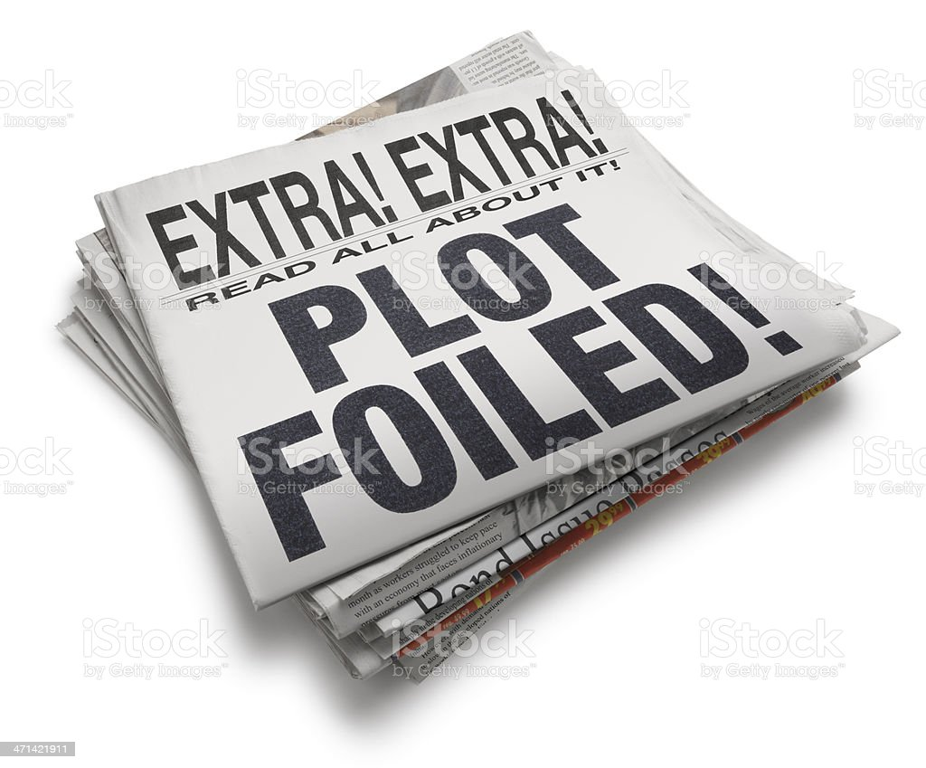 Plot Foiled! stock photo