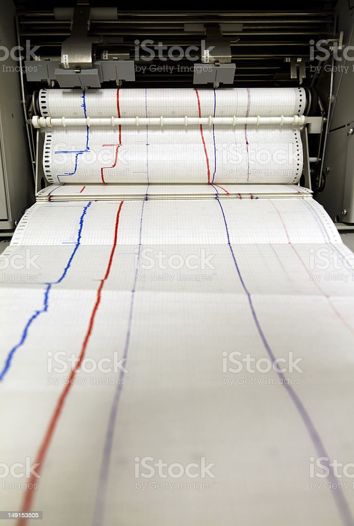 Plotter printing roll stock photo