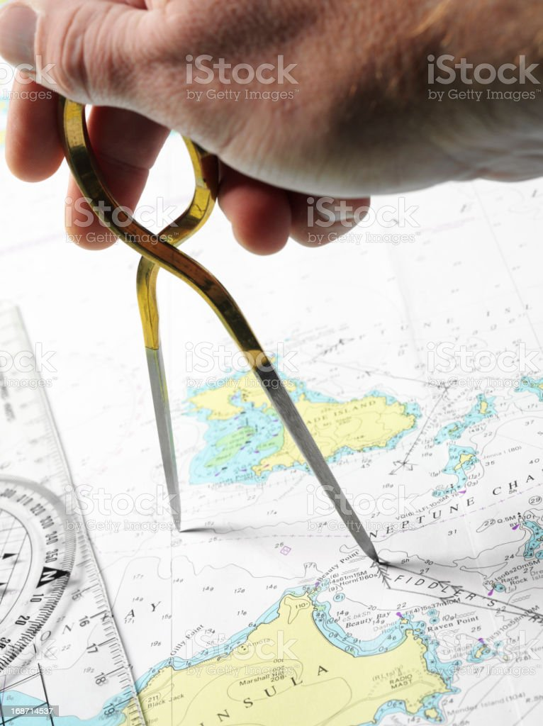 Plotting a Course for Navigation royalty-free stock photo