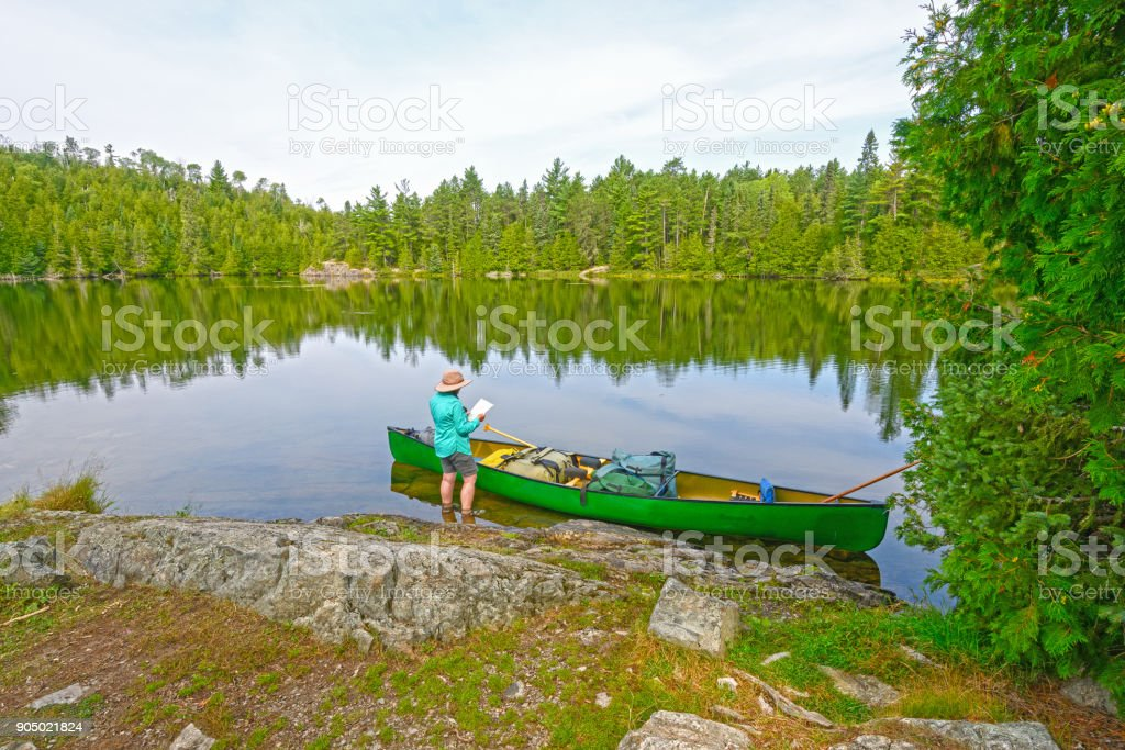 Plotting Your Course into the Wilderness stock photo