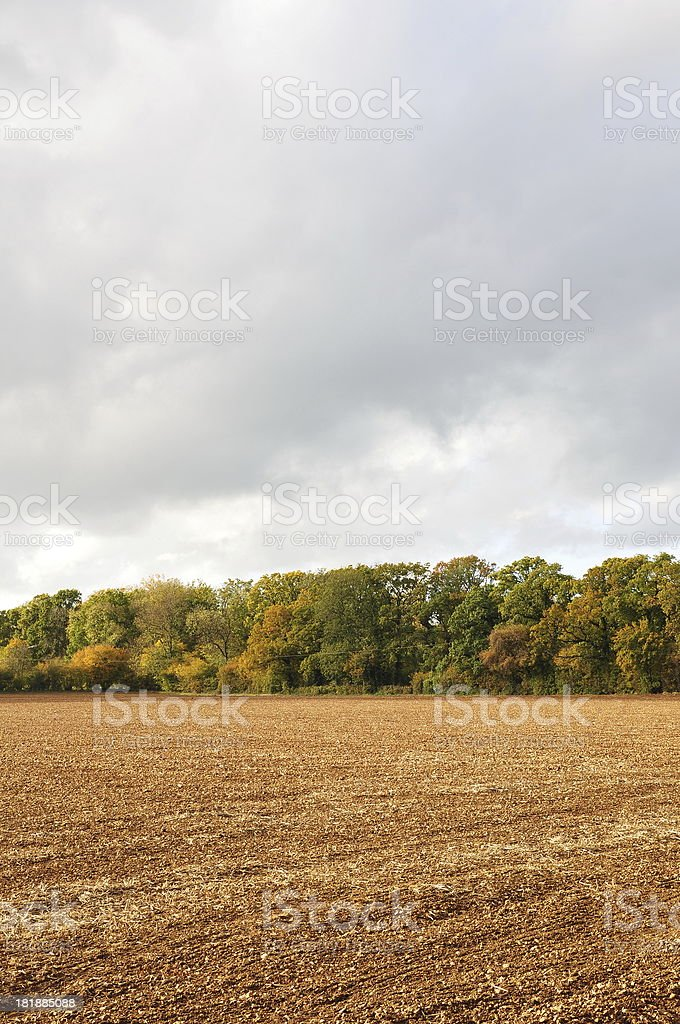 Ploughed Farmland royalty-free stock photo