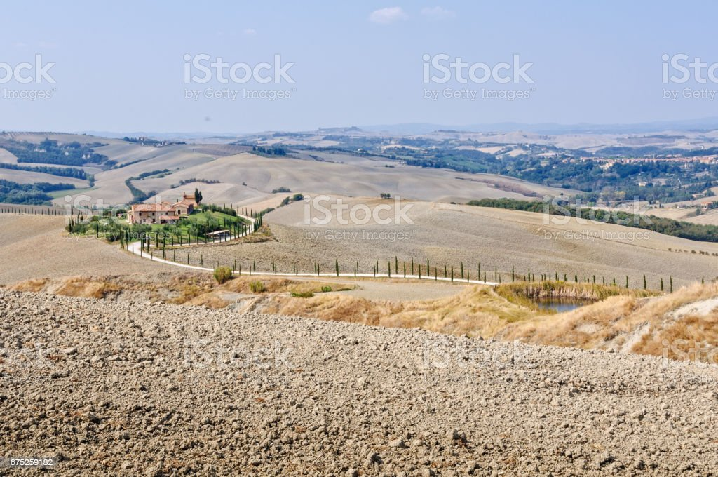 Ploughed Fields - Crete Senesi stock photo