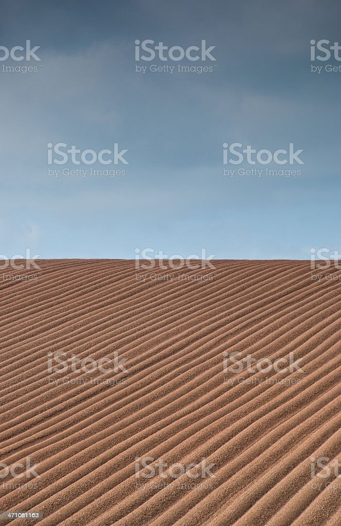 Ploughed Meadow royalty-free stock photo