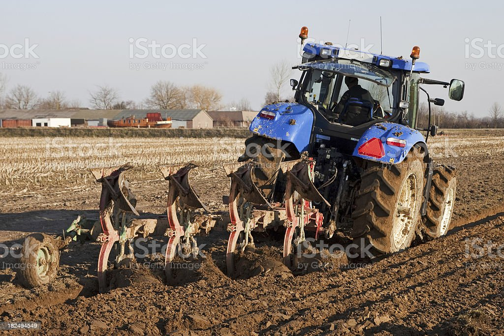 Ploughing # 4 royalty-free stock photo