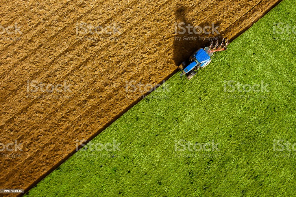 Ploughing stock photo