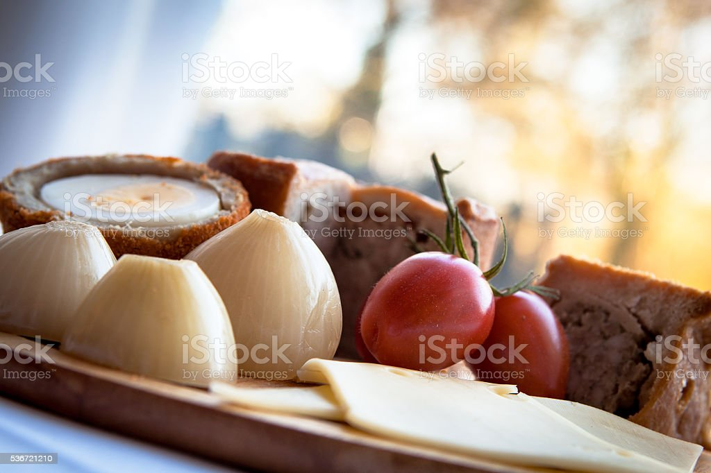 Ploughmans Lunch stock photo