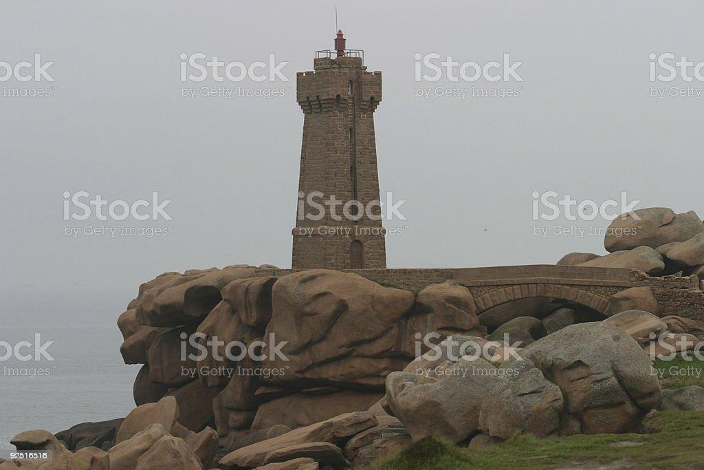 Ploumanac'h lighthouse royalty-free stock photo