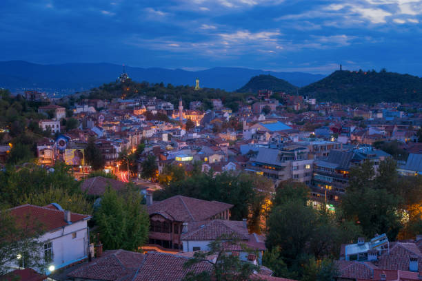 Plovdiv at Dusk stock photo