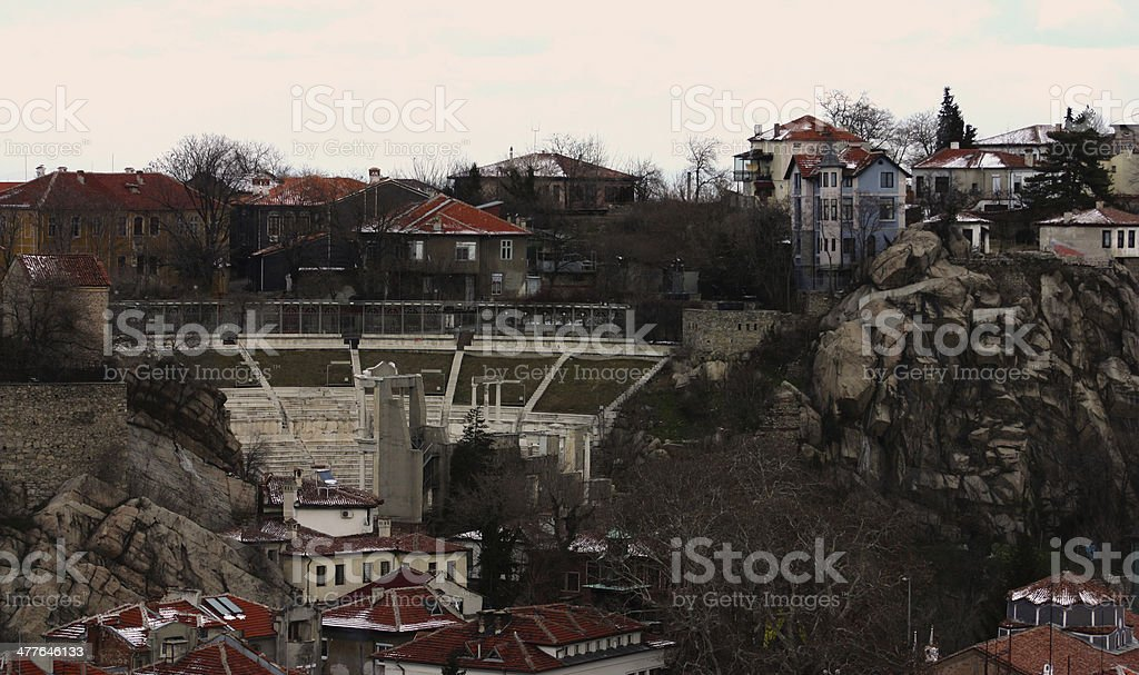 Plovdiv city royalty-free stock photo