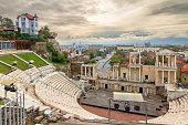 istock Plovdiv Roman theatre skyline 971409168