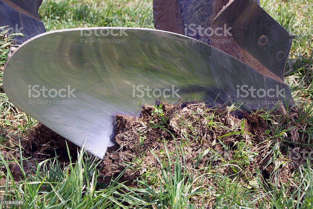 Plow to Soil Contact royalty-free stock photo