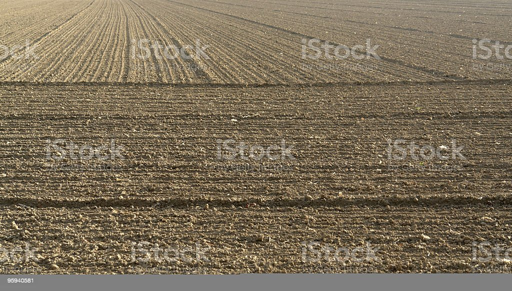 plowed acre royalty-free stock photo