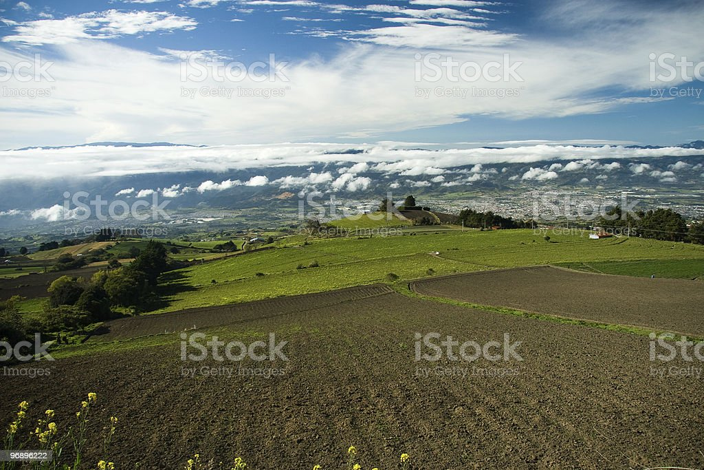 Plowed field in countryside royalty-free stock photo
