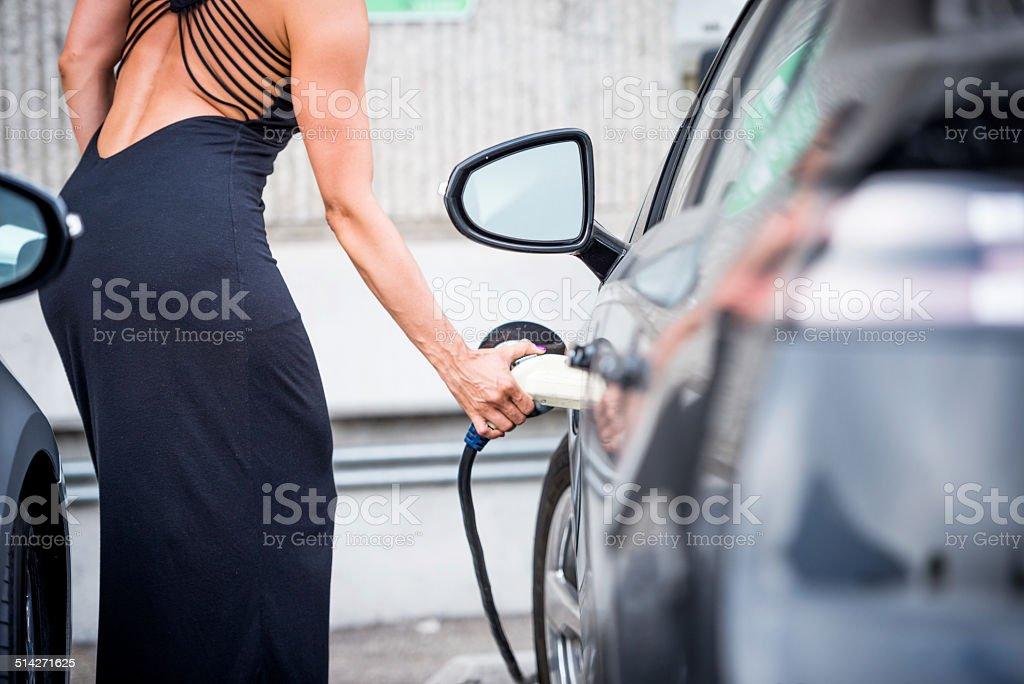 Plug and charge stock photo