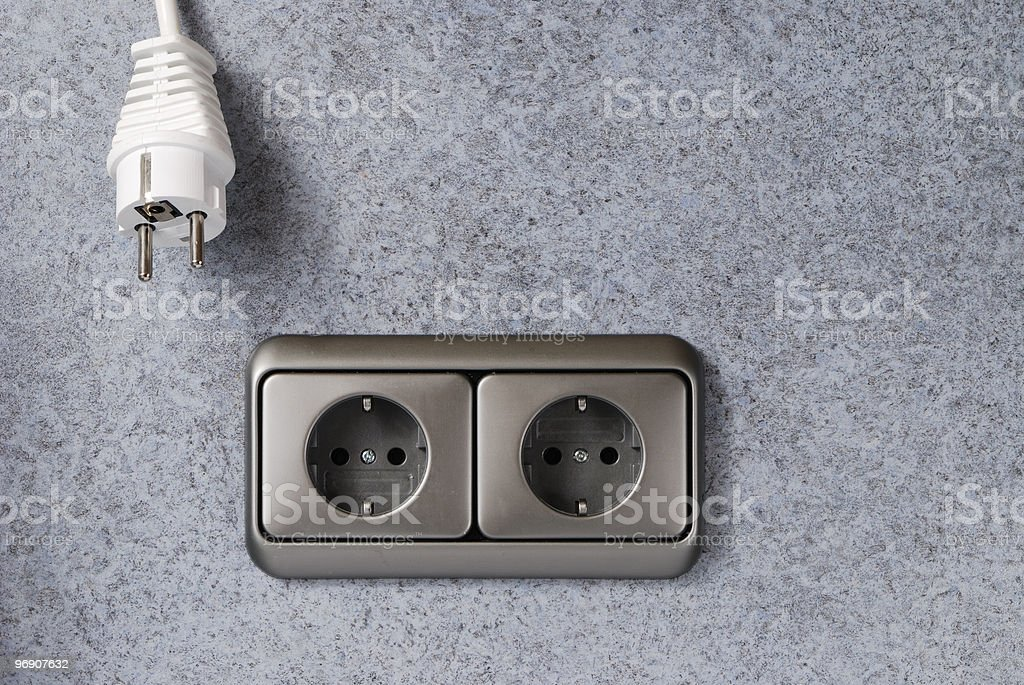 Plug and power socket royalty-free stock photo