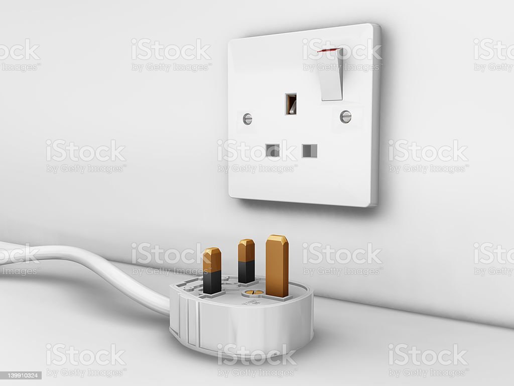 Plug and socket royalty-free stock photo