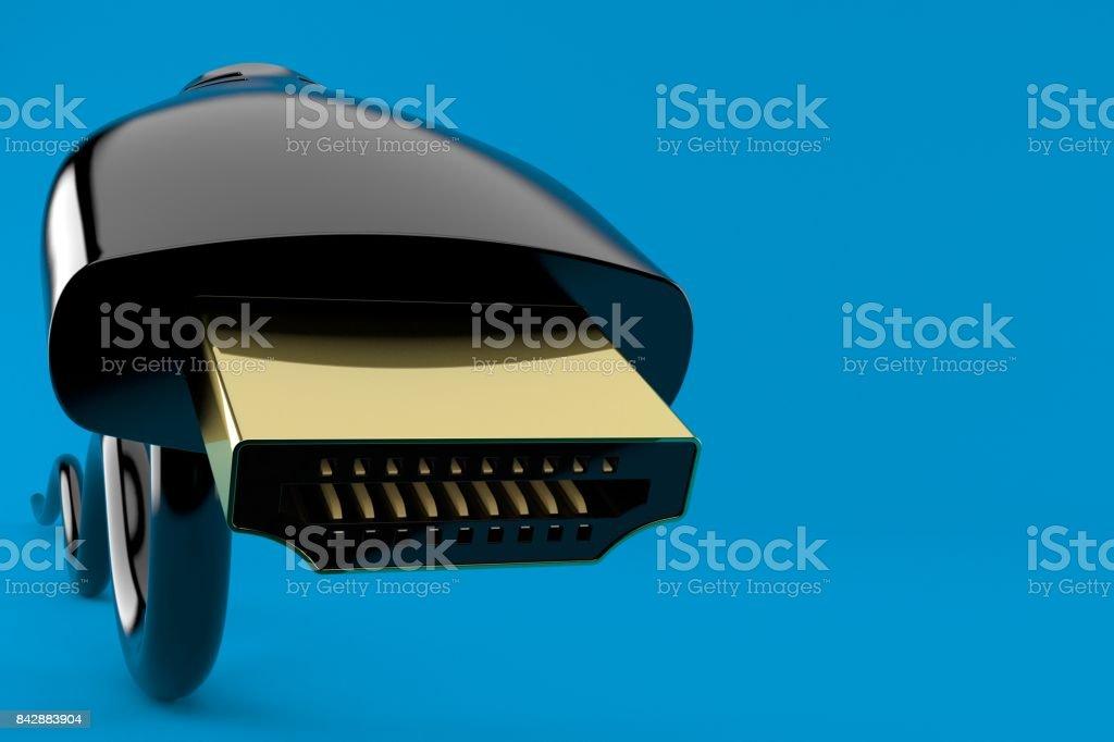 HDMI plug close-up stock photo