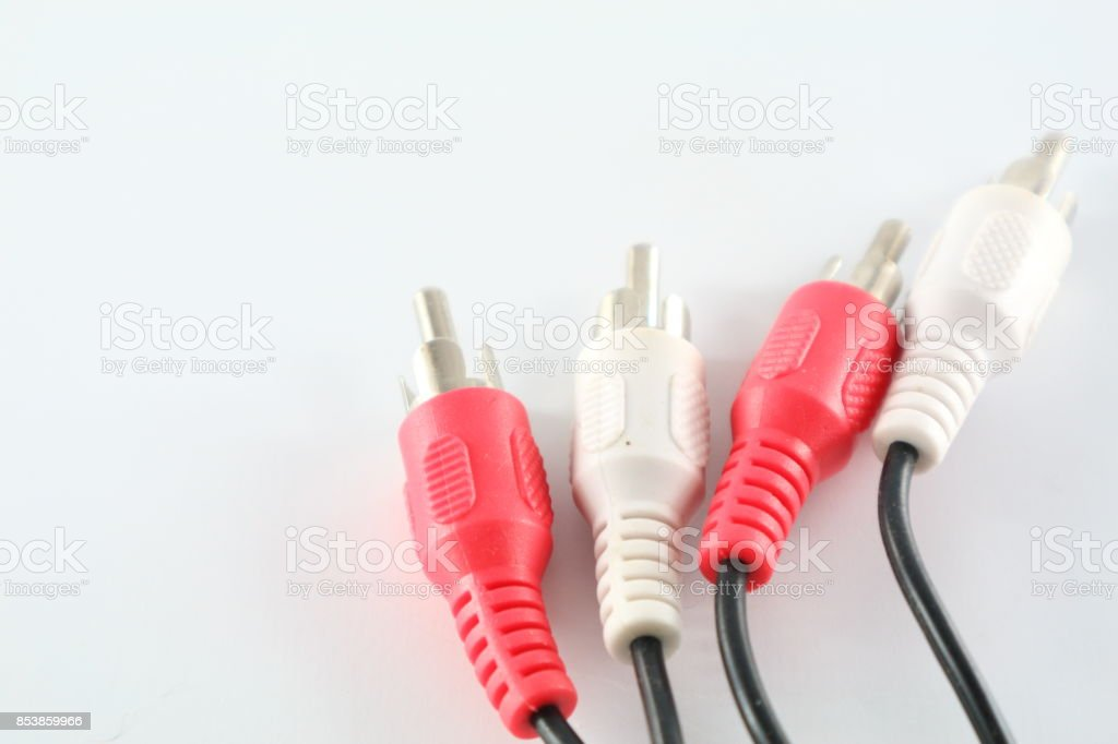 Plug in cable stock photo