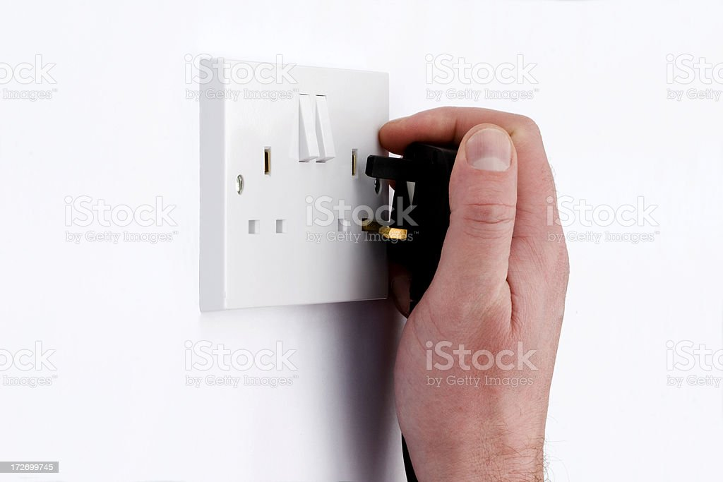 Plug In royalty-free stock photo
