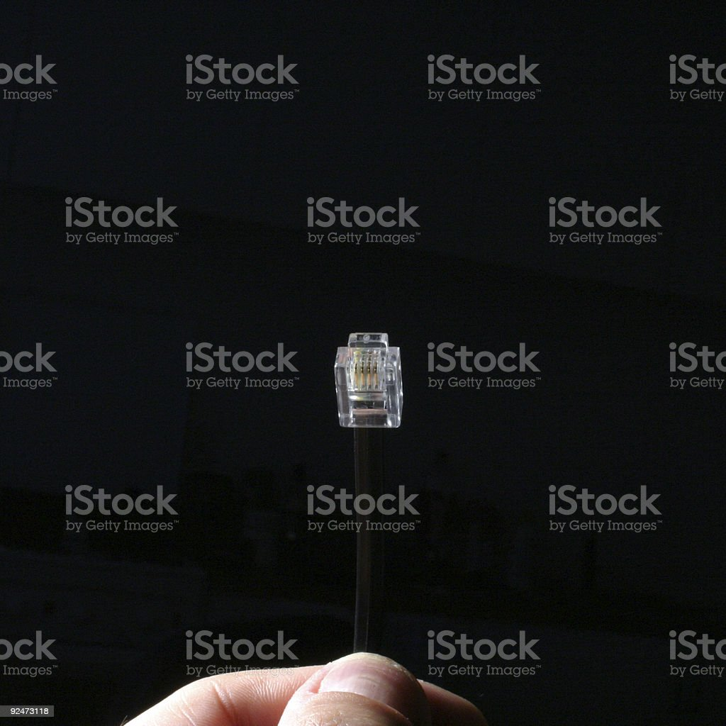 Plug-in, um Lizenzfreies stock-foto