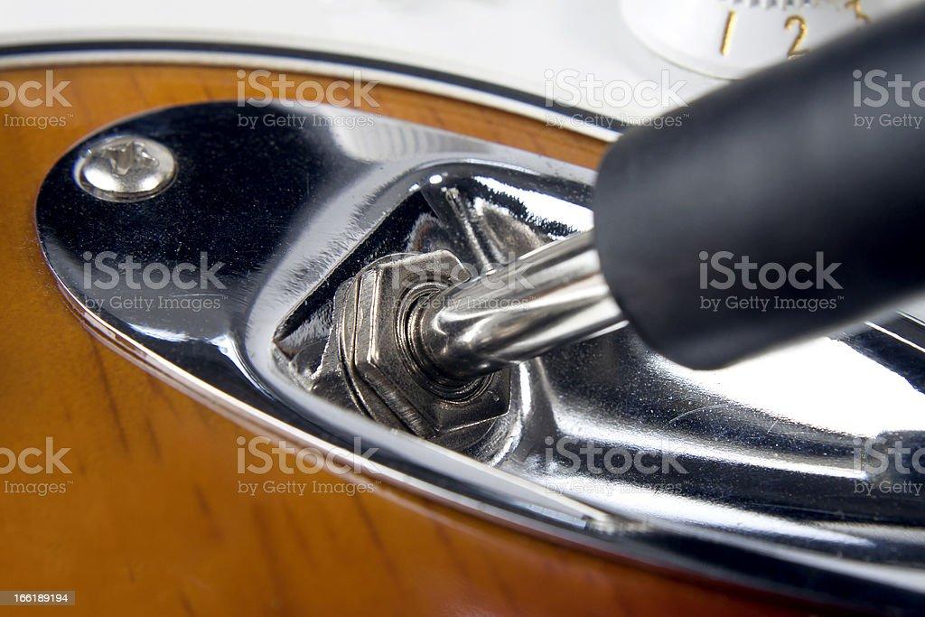 Plug the Guitar stock photo