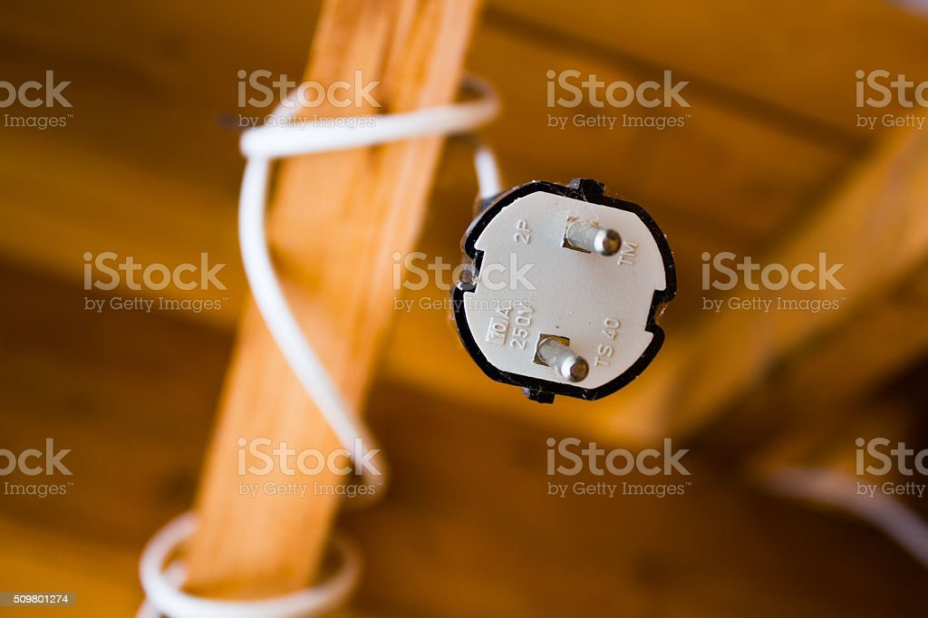 Plug view from below stock photo
